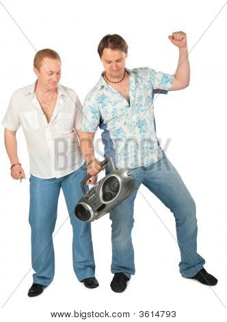 Two Young Men With Boombox