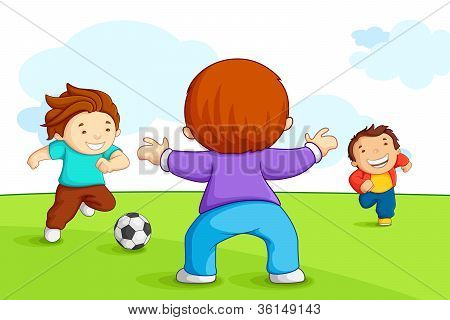 Kids Playing Soccer