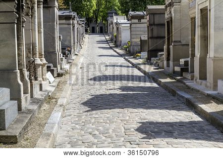 Historic cemetery in Paris, France