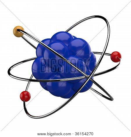 3D digital illustration of atom