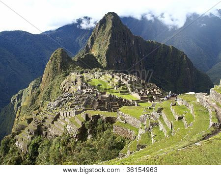 Machu Picchu, The Ancient Inca City Of Peru