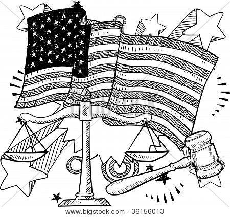Bosquejo de la justicia estadounidense