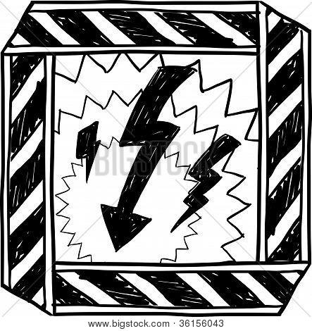 Bosquejo de advertencia de riesgo eléctrico
