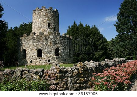old castle built from stone n rock brick