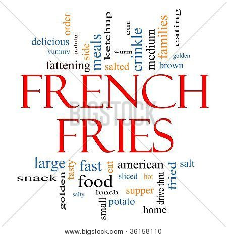 French Fries Word Cloud Concept