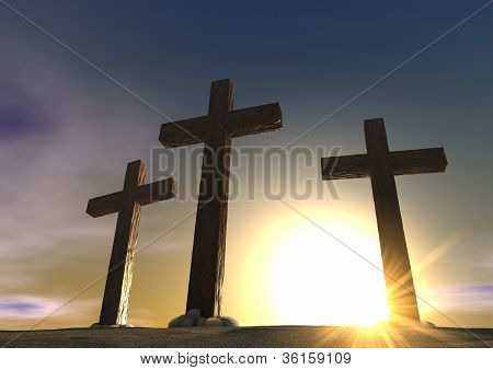 The Crucifixion Close