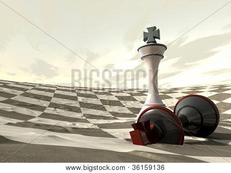 Chess Desert Game Over