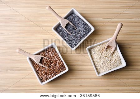 Flax, Poppy And Sesame Seeds