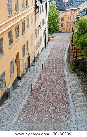 Small Street Of Stockholm
