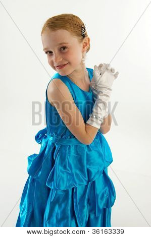 Young Girl In Ball Gown