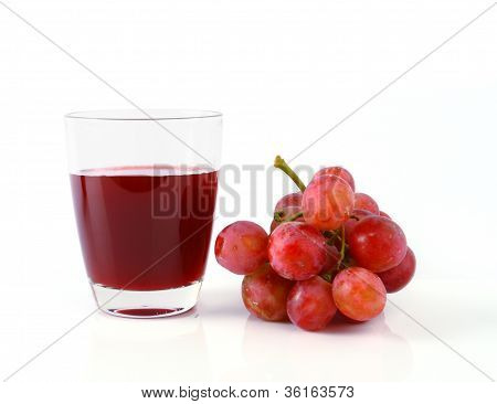 Grape Juice And Grape  Isolated