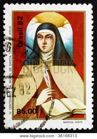 Postage stamp Brazil 1982 St. Theresa of Avila
