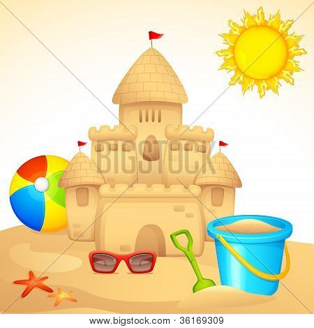 Sand Castle with Sandpit Kit