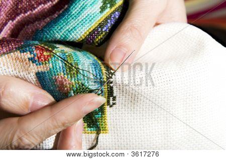 Cross Stitch Art In The Making
