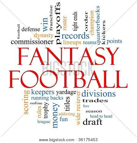 Fantasy Football Word Cloud Concept