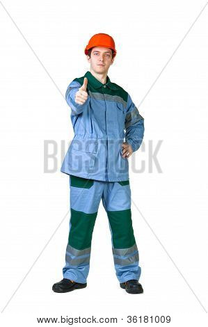 Picture Of A Young Construction Worker