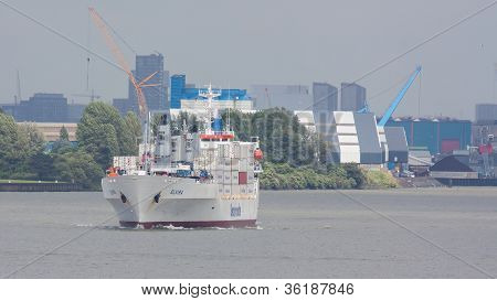 Containership In The Harbor Of Rotterdam