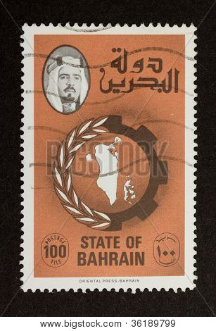 State Of Bahrain - Circa 1980: Stamp Printed In The State Of Bahrain