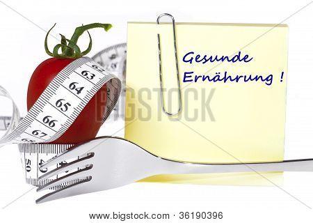Messung der Tape - Briefpapier - gesunde Ernährung und Diät