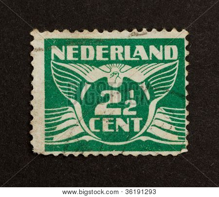Holland - Circa 1940: Stamp Printed In The Netherlands