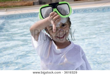 Little Girl With Snorkel