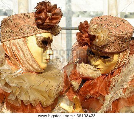 Venice Carnival Revellers