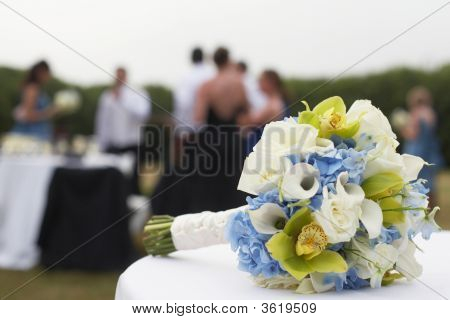 Bouquet At Wedding Reception