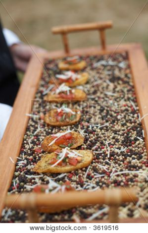 Hors D'Oeuvres Being Served