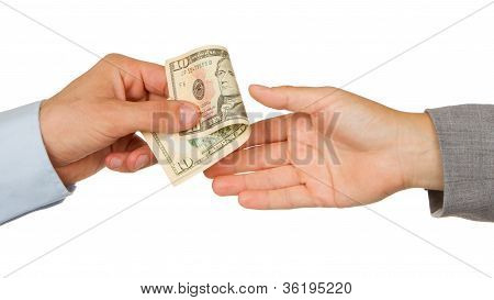 Transfer Of Money Between Man And Woman