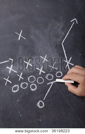 Coach Drawing Football Play