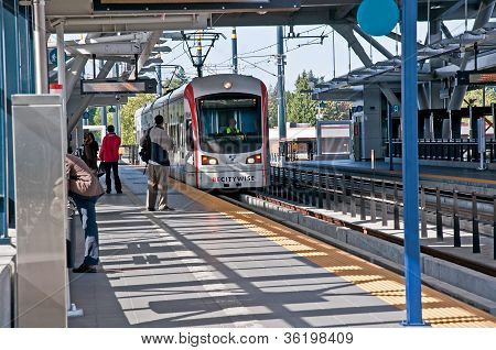 Seattle, Wa - July 17 - Link Light Rail Transport 3Rd Year Success