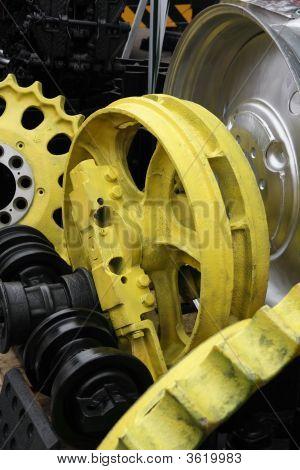 Steel Wheel And Gears.