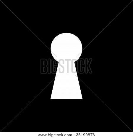 Keyhole Illustration With Black Background