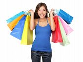 Shopper Woman Holding Shopping Bags
