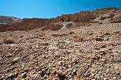 stock photo of samaria  - Big Stones in Sand Hills of Samaria Israel - JPG