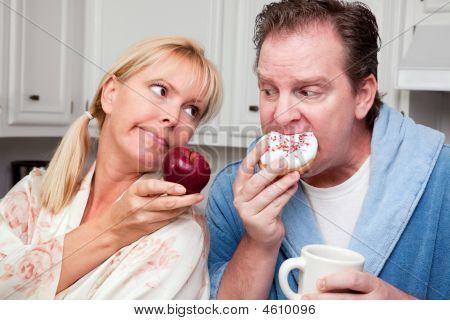 Donut Or Fruit - Healthy Eating Decision