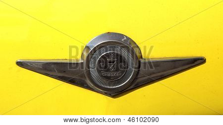 Checker Taxi Cab emblem produced by the Checker Motors Corporation