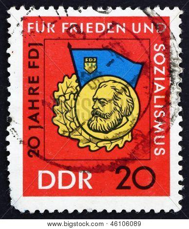 Postage Stamp Gdr 1966 Medal For Scholarship