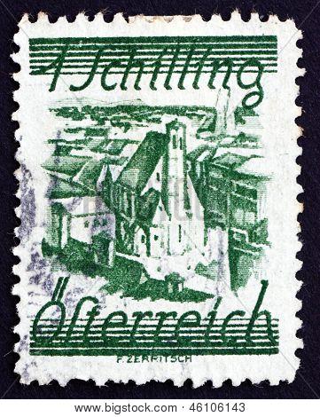Postage Stamp Austria 1925 Church Of Minority Friars