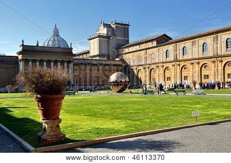 Interior Courtyard Of Vatican