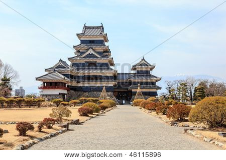 The black matsumoto castle