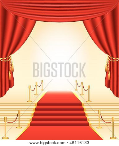 red carpet photo-realistic vector