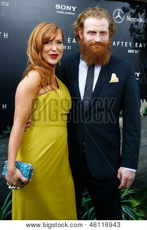 NEW YORK - MAY 29: Actor Kristofer Hivju (R) attends the premiere of