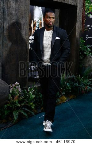 NEW YORK - MAY 29: Rapper Fifty Cent attends the premiere of