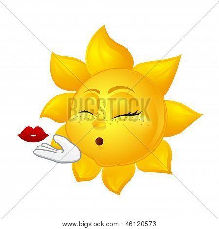 Beautiful Sun Making Air Kiss