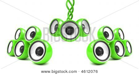 Green Stylish Modern Audio System
