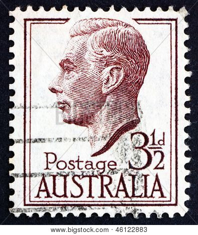 Postage Stamp Australia 1951 George Vi, King Of The United Kingdom
