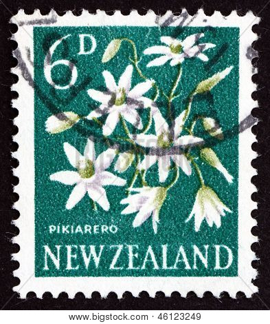 Postage Stamp New Zealand 1960 Pikiarero, Clematis Forsteri, Flowering Plant