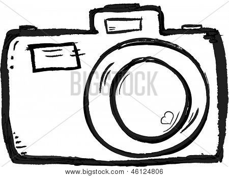 Scribble Hand drawn camera icon