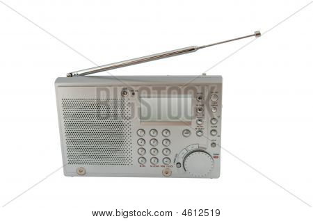 Worldband Radio Receiver Isolated Over White